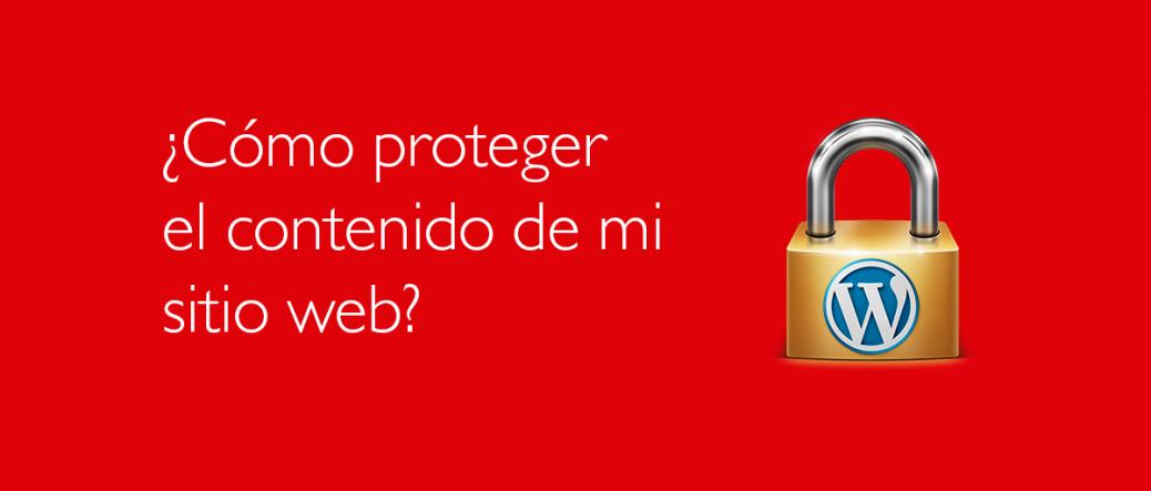 Proteger contenido en Wordpress | Nancy Fernandes