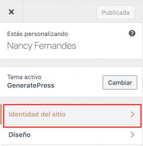 Identidad del Sitio WordPress